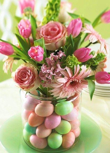 Ostern-Herzstück-Osterei Vase-Ostern Dekoration