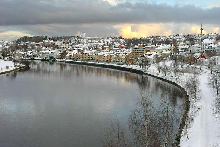 View from Elgeseter Bridge, norway