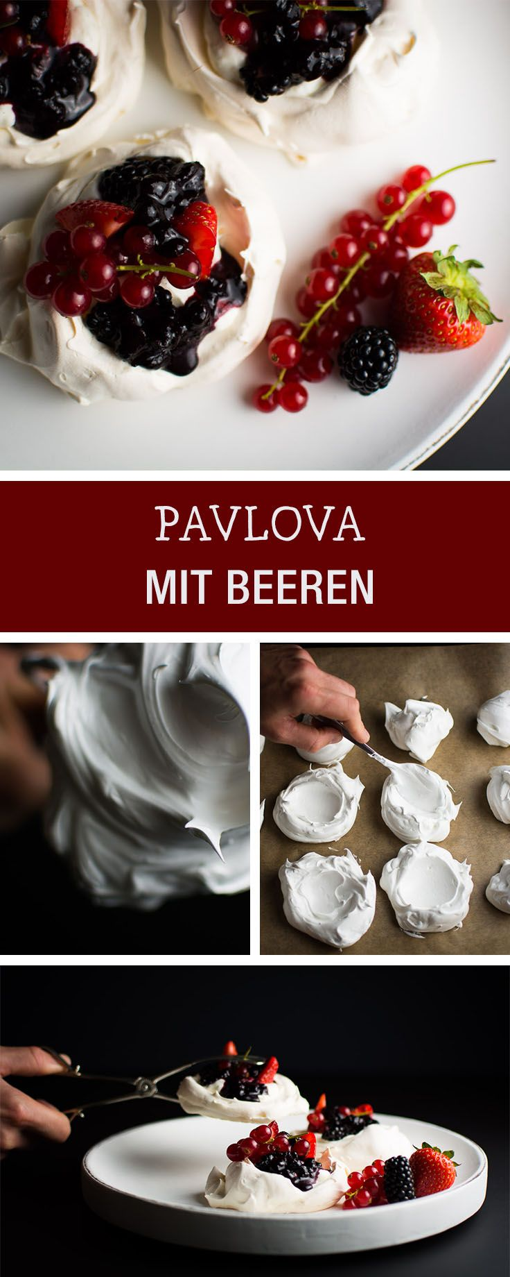 Süßes Rezept: Baiser mit Früchten selbermachen, Dessert / sweet recipe for dessert: pavlova with fruits via DaWanda.com