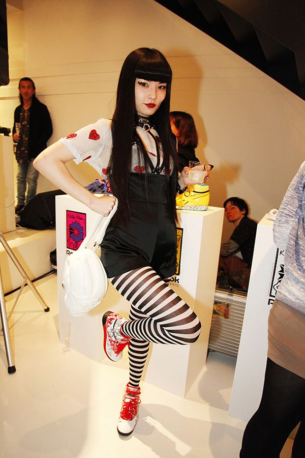 Kozue Akimoto at Reebok CLASSIC presents Keith Haring Exhibition Reception Party!