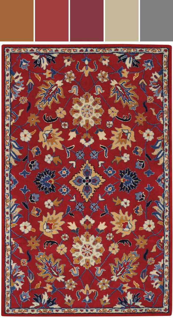 Panache Ziegler Rug In Red Designed By Capel Rugs Via Stylyze