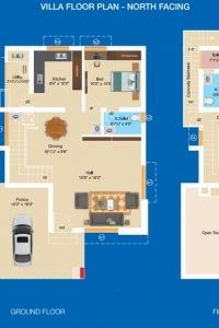 Aashritha - Villa Floor Plan (North Facing)