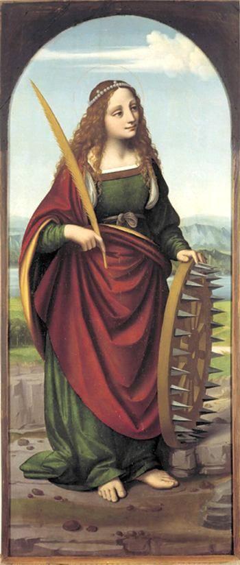 Isabella von Aragon als Heilige Katharina von Alexandria