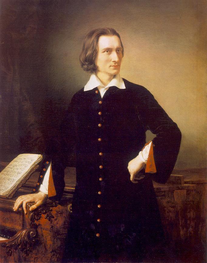 Portrait of Franz Liszt  by Miklós Barabás