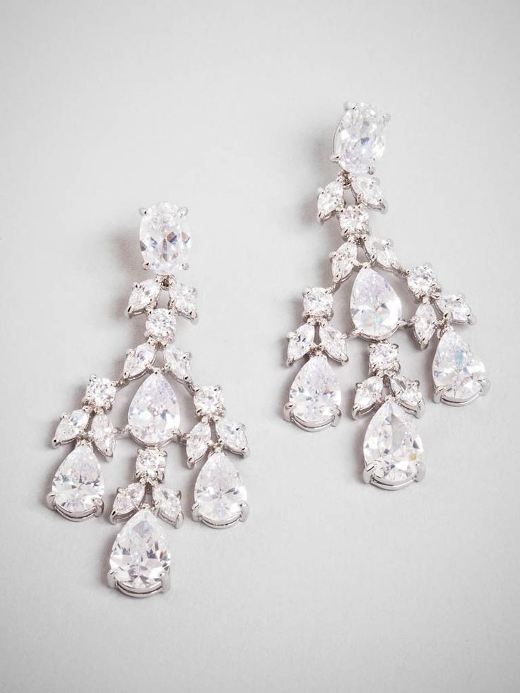 Is there anything more glam than a chandelier earring? We love this pair for the copious amounts of clear crystals it boasts.