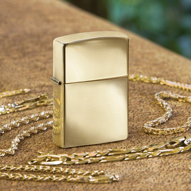 Fancy - 18kt Solid Gold Zippo Lighter