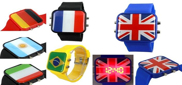 $13 for a National World Cup Soccer Team Silicone LED Watch - Available in 6 Teams