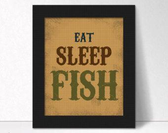 Eat Sleep Hunt Print par LostSockDesigns sur Etsy