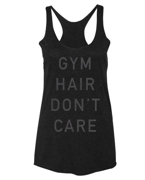Gym hair. Don't care.