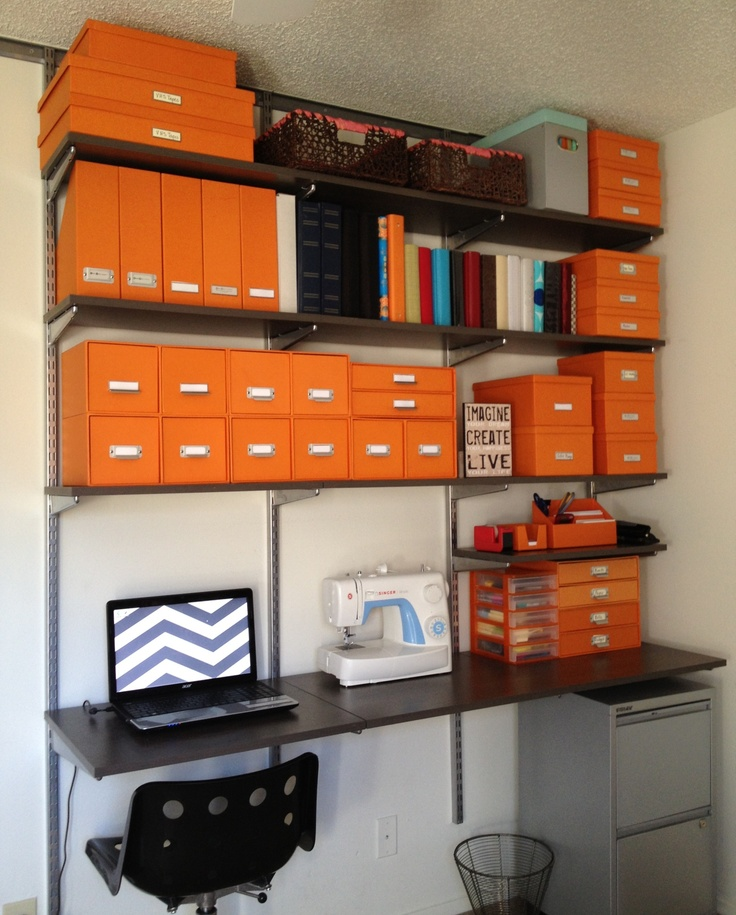 I Am In Love With My Elfa Home Office From