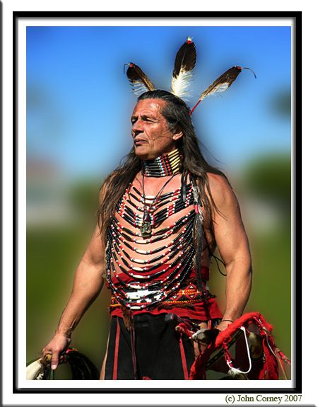 North American Indian PowWow male dancer.