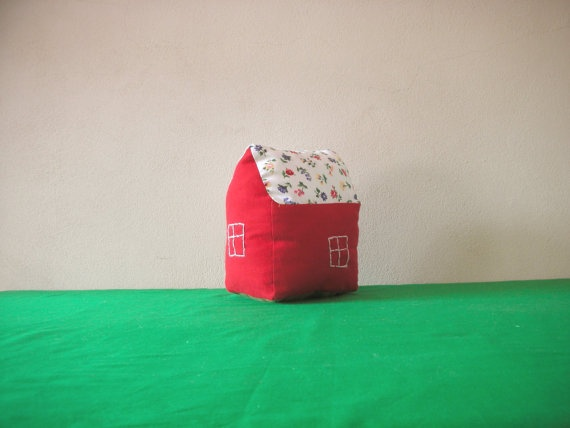 House Pillow  toy for children but not by ConstructiveLaziness, €15.00