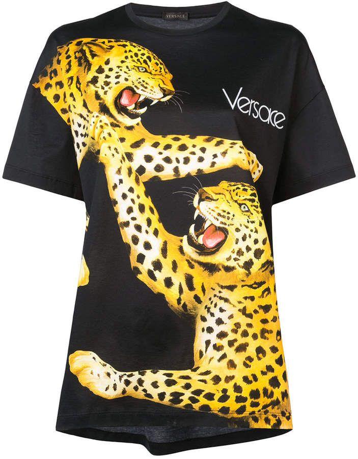 9b4c067b4c6 Gorgeous Versace Tiger print T-shirt