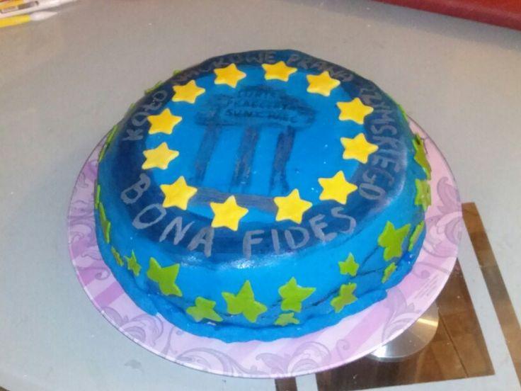 """Tort z okazji konferencji Koła Naukowego """"Bona Fides"""" (w kształcie loga koła). Link do pierwowzoru: http://www.struna.edu.pl/pub/user/5428/logo-bona-fides_l.jpg"""