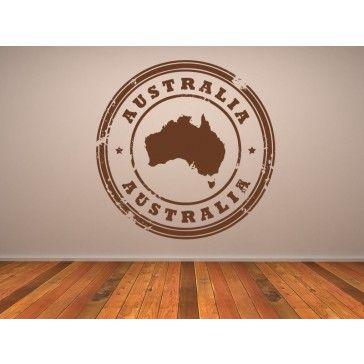 Australia Circled Wall Sticker Kids World Sticker Wall Art Decal - Australia - People Places