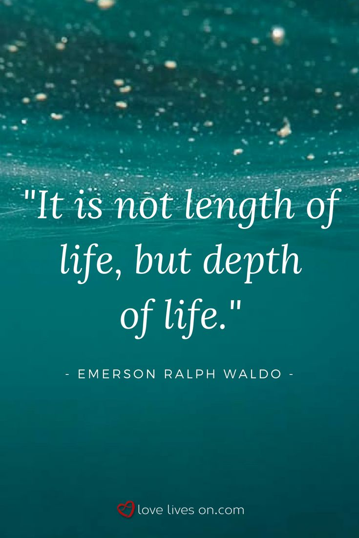 So true. A beautiful funeral quote from the poet Emerson Ralph Waldo.