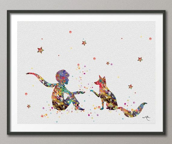 The Little Prince 3 Le Petit Prince with Fox by CocoMilla on Etsy, $15.00