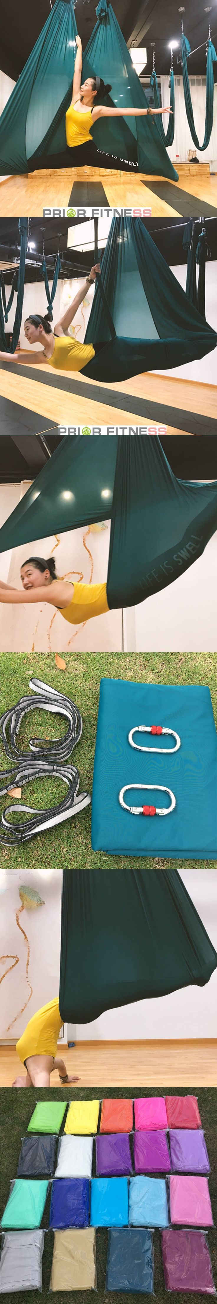Aerial Yoga Hammock   6meters Fabric ONLY  & 20 color options  Anti-gravity yoga swing Shipping by By Post Mail 15-30 days