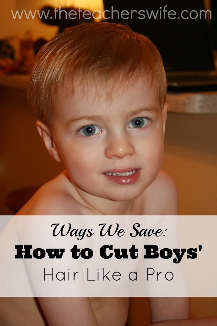 HOW TO CUT BOYS' HAIR LIKE A PRO.  I stumbled upon this tutorial when I was thinking about trying to cut my son's hair and had no clue how to begin.  I've used this method ever since I saw it and while I'm no professional, I think I'm slowly getting the hang of it.  It's been a great way to save some money!