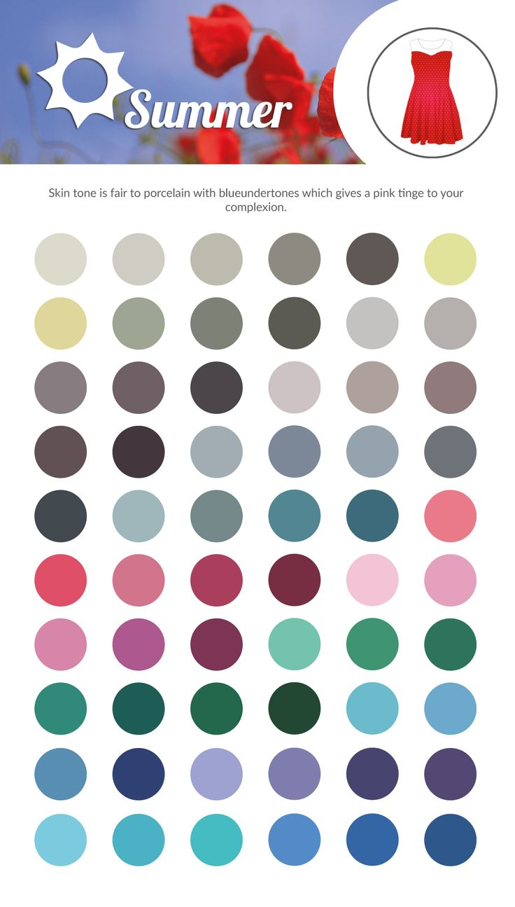 SUMMER Clothing Colour Chart.