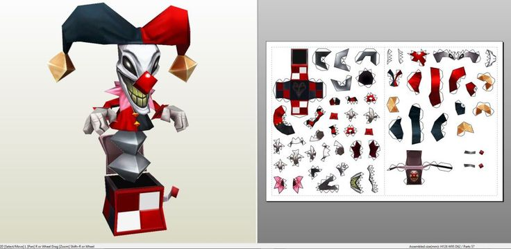 Papercraft .pdo file template for League of Legends - Shaco Trap.