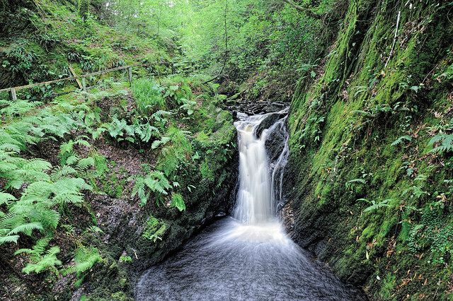 Morag's Fairy Glen, Dunoon, Scotland is a lovely (secret ) hill side walk, filled with waterfalls, narrow passes, rickety bridges and .... of course ......... Faeries !