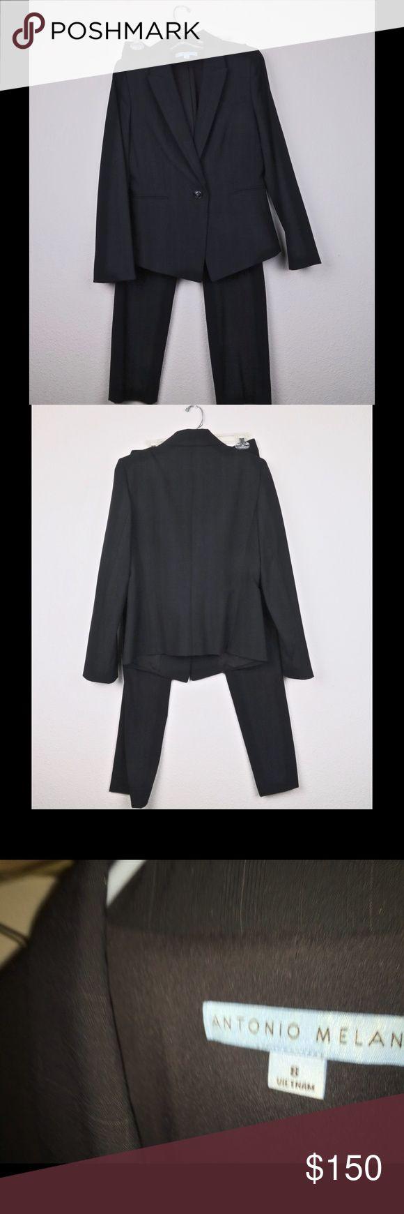 Antonio Melani Timeless Black Suit Size 8 Class follows this classic ANTONIO MELANI pinstripe suit. 8 ANTONIO MELANI Other