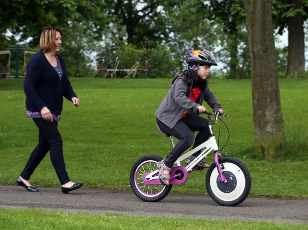 Jyrobike attempts to remove the frustration and anxiety from your children when they learn to ride a bike, it's an auto balance bike that keeps the rider upgright and stable, even when they tip or wobble.