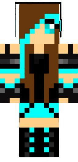 minecraft skins for girls | DJ girl brown hair