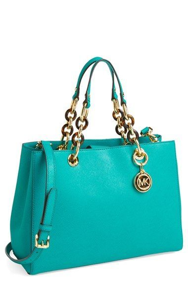 MICHAEL Michael Kors 'Cynthia' Saffiano Leather Satchel | pinterest: /xpiink/ ♚                                                                                                                                                                                 More