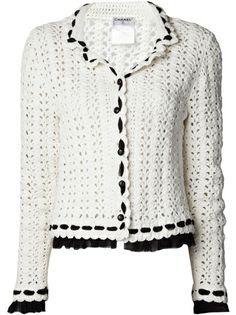 CHANEL VINTAGE - double collar crochet jacket 8♪ ♪ ... #inspiration_crochet #diy GB