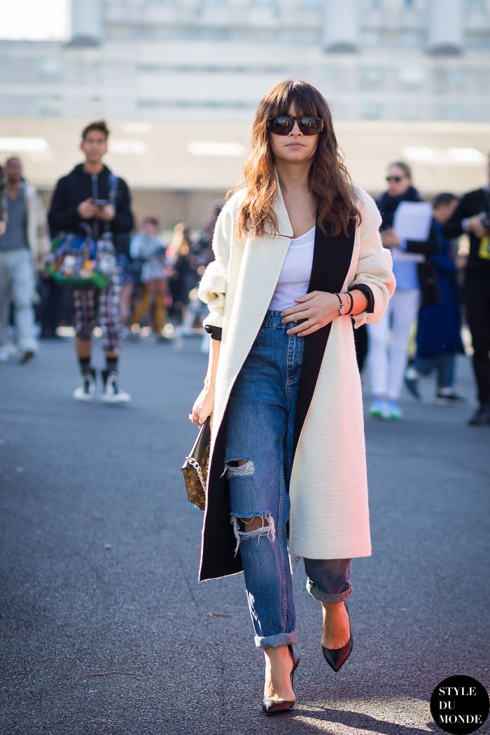 Paris Fashion Week FW 2015 Street Style: Miroslava Duma