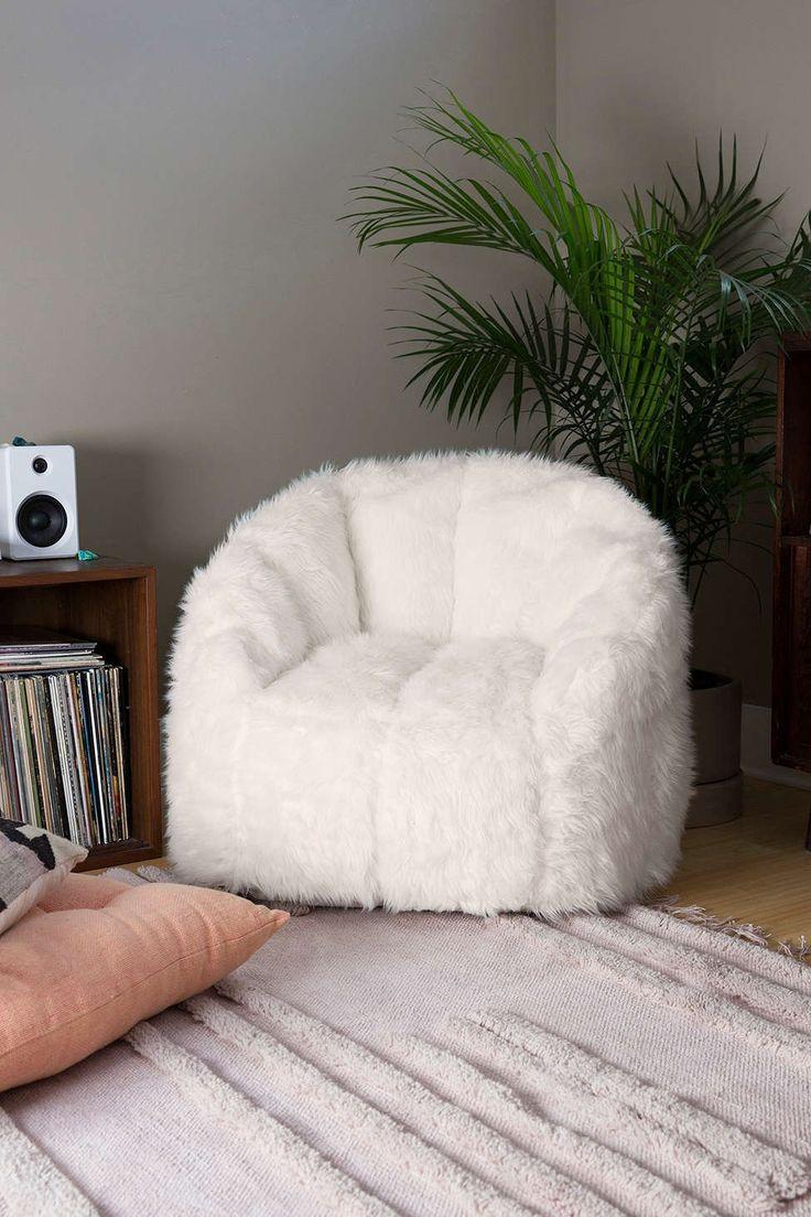 Maggie Faux Fur Shag Chair - Urban Outfitters