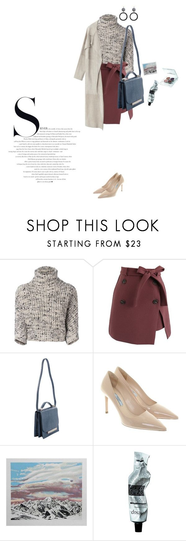 """Untitled #184"" by palina-parker ❤ liked on Polyvore featuring Brunello Cucinelli, Chicwish, The Row, Prada, David Jones and Tromborg"