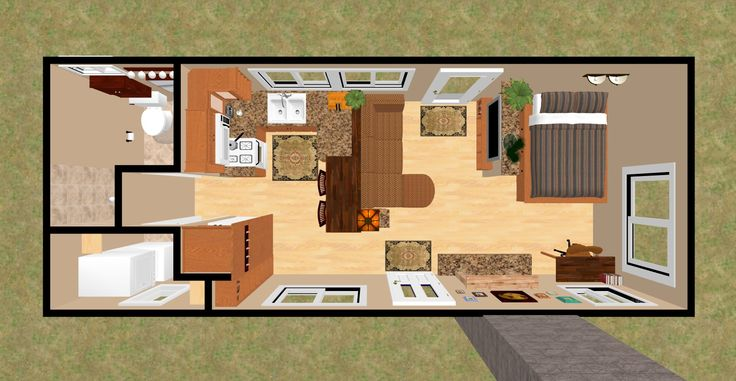 """3D Top View Of The 360 Sq Ft """"Shy Lightning""""."""