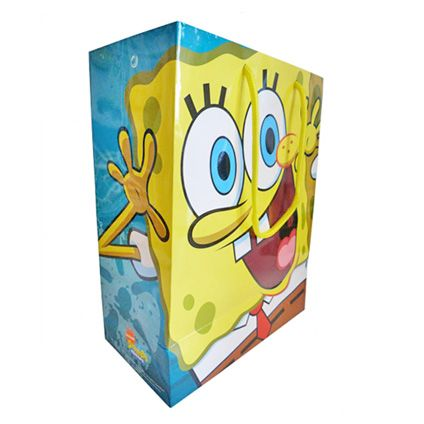 SpongeBob Squarepants Medium Sized Gift Bag available direct from Publishers with Free UK Delivery at https://www.danilo.com/Shop/Cards-and-Wrap/Gift-Bags