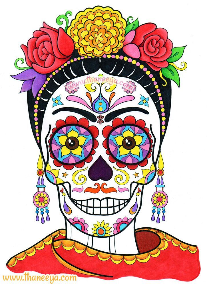 Frida Sugar Skull by Thaneeya McArdle | Flickr - Photo Sharing!: