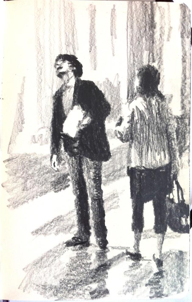 Moleskine J #032 graphite pencil drawing
