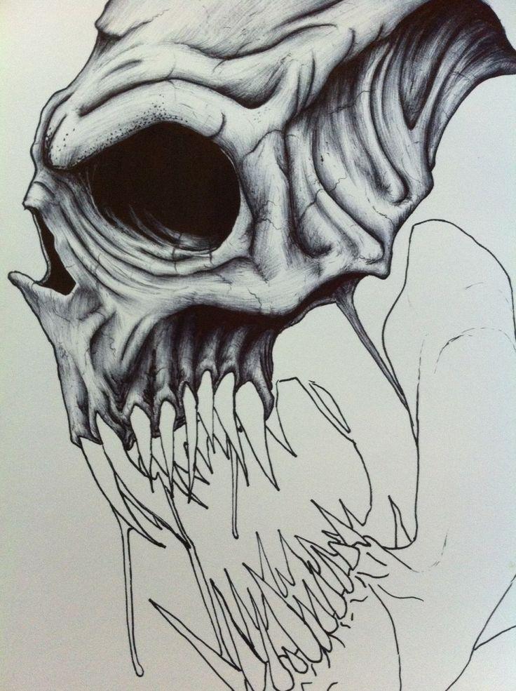 Death skull drawings