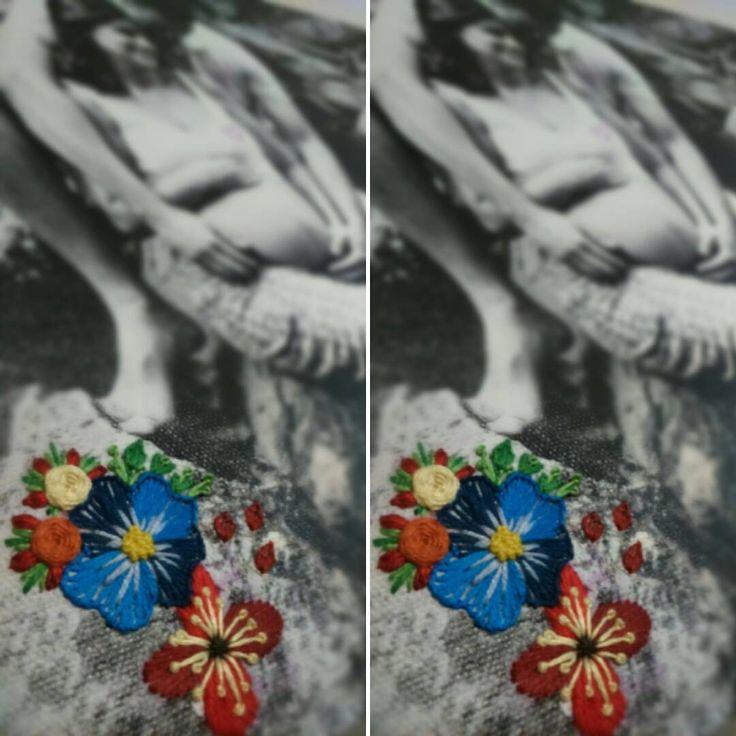 """25 curtidas, 1 comentários - Um Pontinho (@umpontinhobordados) no Instagram: """"Bordados e fotos combinam sim!!! 💛 💙 💜 💚 #umpontinho #foto #bordado #embroidery #photography…"""""""