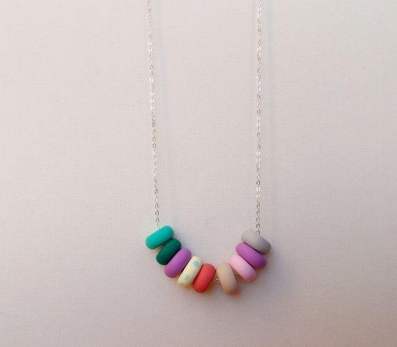 Handcrafted polymer clay necklace in Urbana, by craft & folk  https://www.etsy.com/ie/listing/219487551/urbana-handmade-polymer-clay-necklace?ref=shop_home_active_10