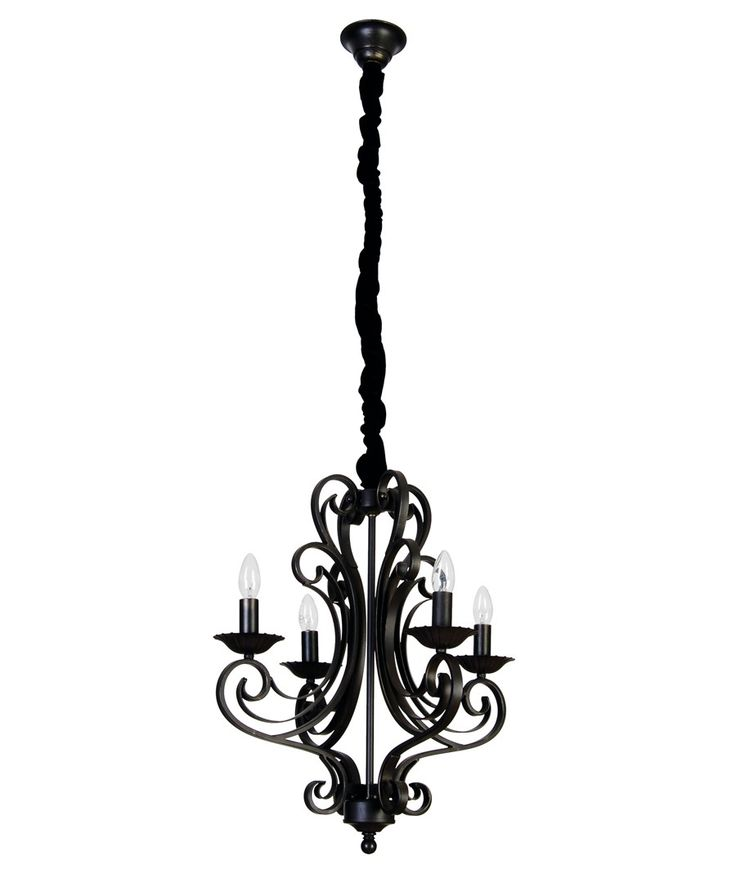 La Spezia 4 Light Pendant in Antique Black