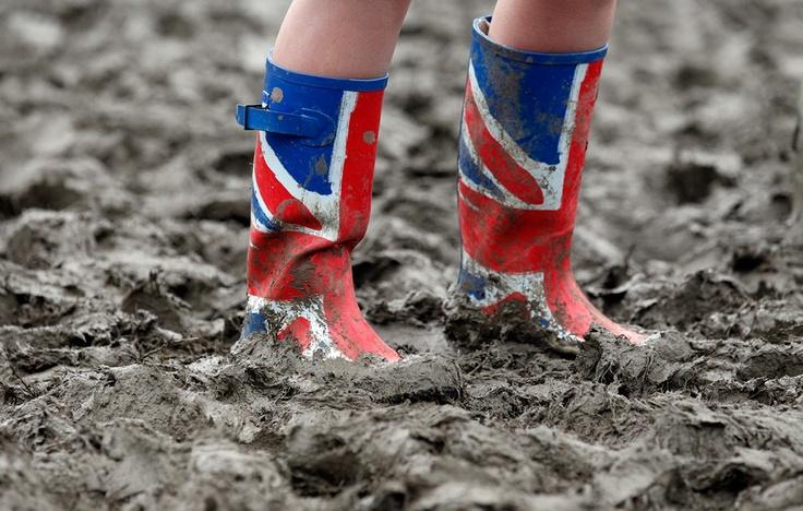 Glastonbury Festival Union Jack wellies (rain boots)