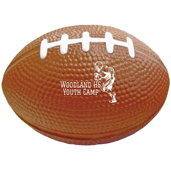 Brown Football Personalized Foam Stress Reliever as favor