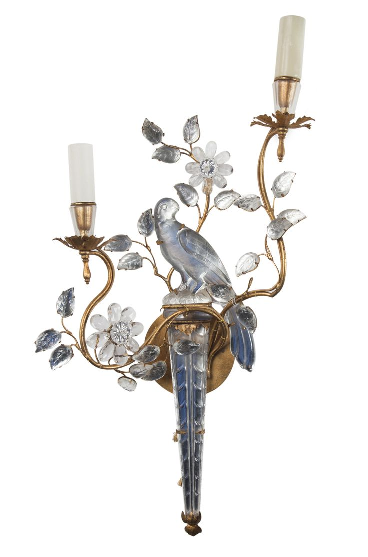 Buy Blanche Field - Bagues two light iron and crystal sconce by Boston Design Center (BDC) - Made-to-Order designer Lighting from Dering Hall's collection of Traditional Wall Lighting