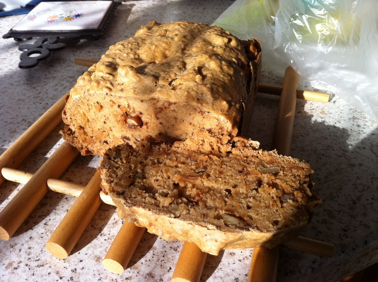 Walnut & Apple Cake made in the bread maker