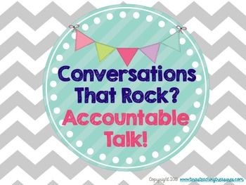 Accountable Talk Posters-Free and cute! Great for Number talks/Math Congress! Math Accountable Talk!  Free!