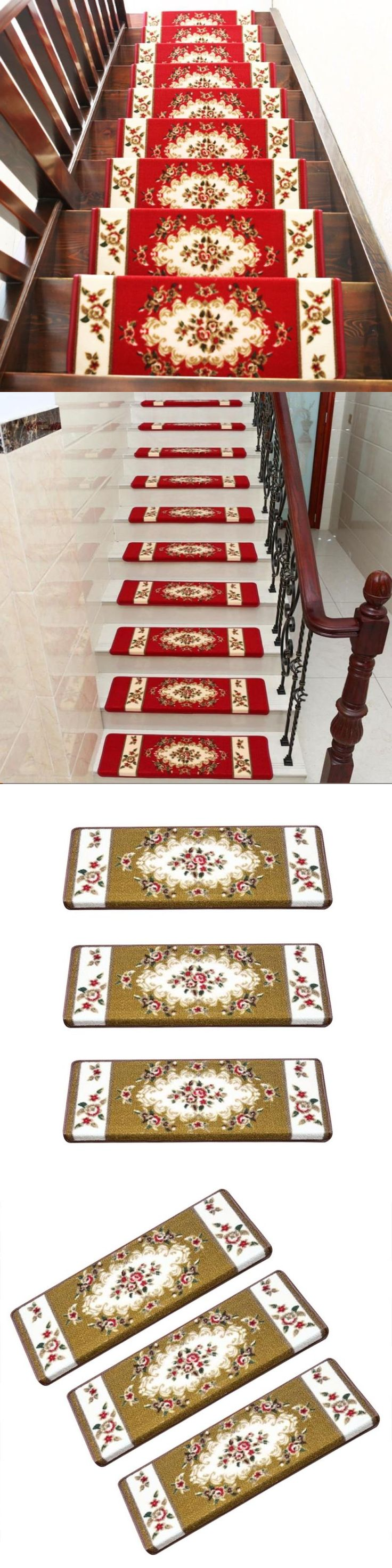 Best Stair Treads 175517 Home 13Pcs Steps Area Rug Floral 400 x 300