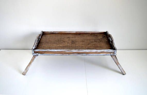 Large Breakfast Tray Bed Tray Tray With Legs Rustic Wooden Tray Natural Serving Tray Tray Decorative Tray Stained T Breakfast Tray Bed Breakfast Tray Bed Tray