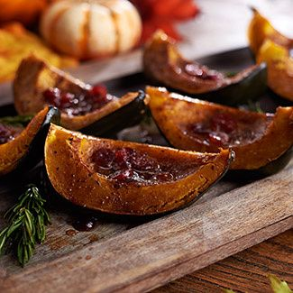 Cider-Braised Acorn Squash, (I substituted apple juice for cider and it still turned out delicious!)